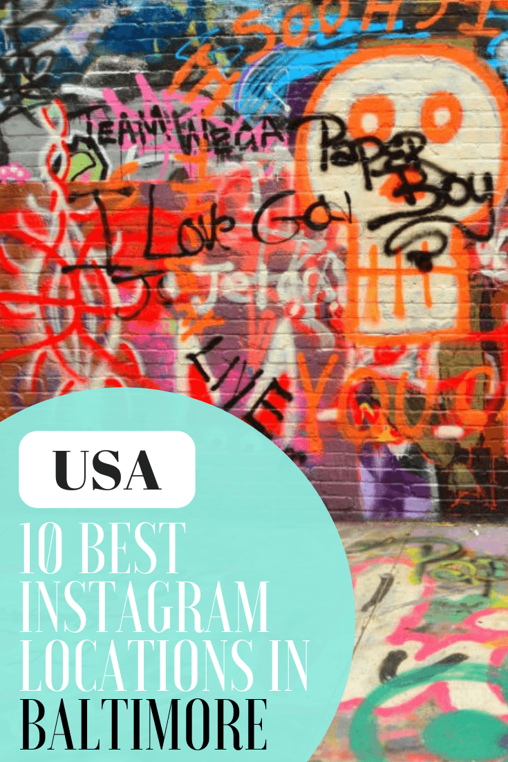Baltimore, Maryland, is very photogenic! From Sherwood Gardens to Pierces Park to the Paper Moon Diner there are opportunities galore. Here are my 10 most Instagram worthy Baltimore Tourist Attractions and where to capture street art on your next travel in Baltimore, USA #baltimore #baltimoremayland #USATravel #instagram