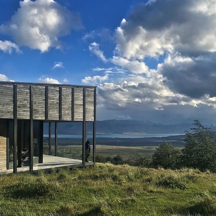 building and views from the Awasi private reserve in Patagonia