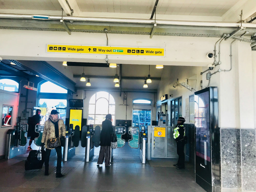 exit for clapham junction station - ticket barriers