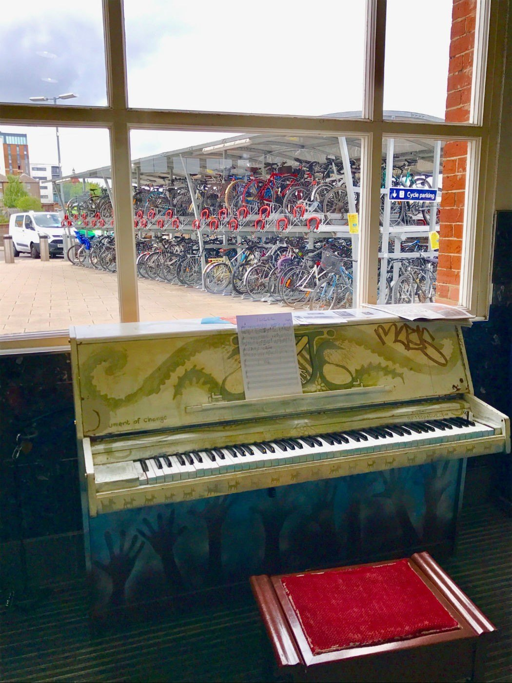 the piano at clapham junction station