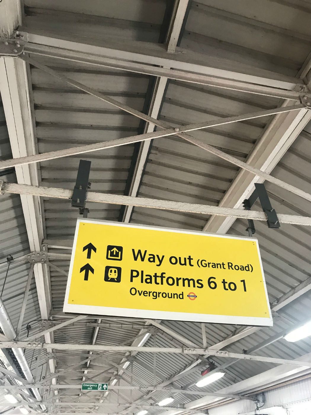 signs at clapham junction station london