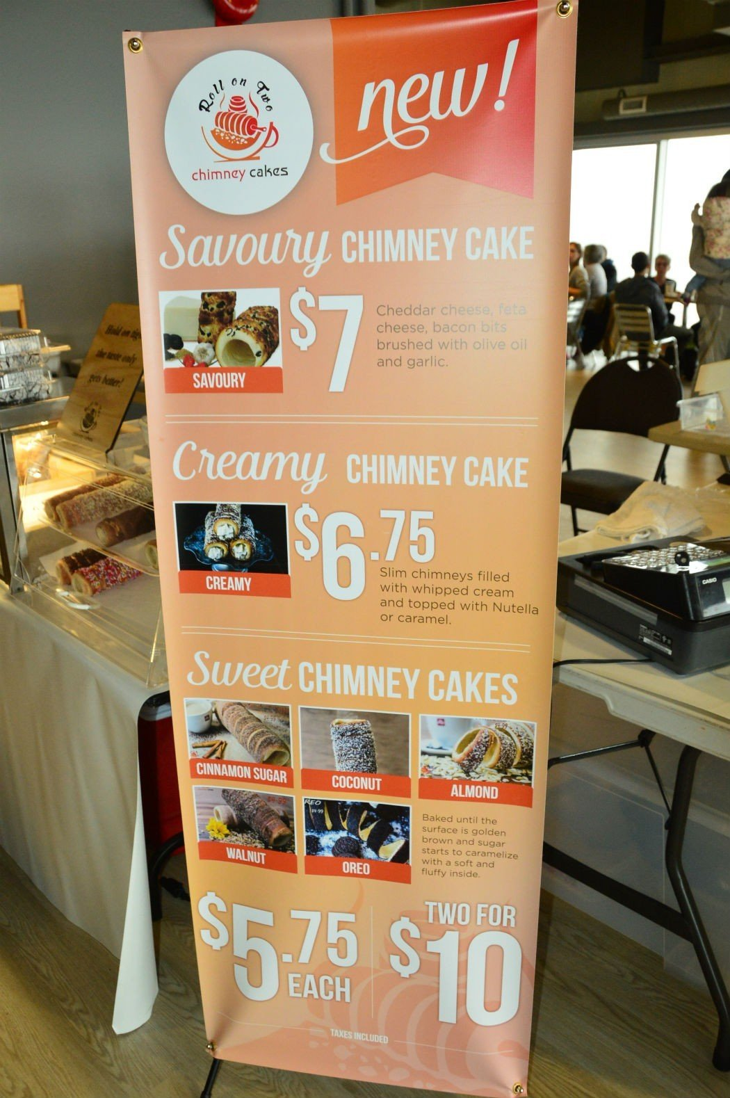 Roll on Two Chimney Cakes sign