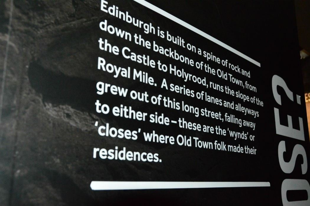 written information about edinburgh at the start of the mary scots tour
