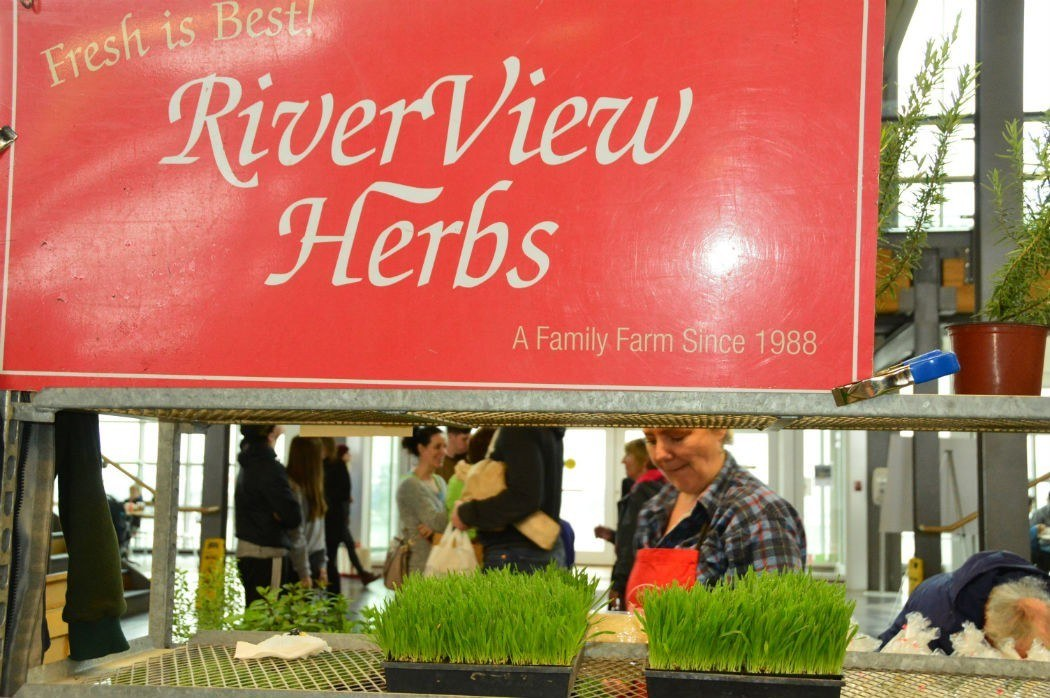 riverview herbs stall at Halifax market