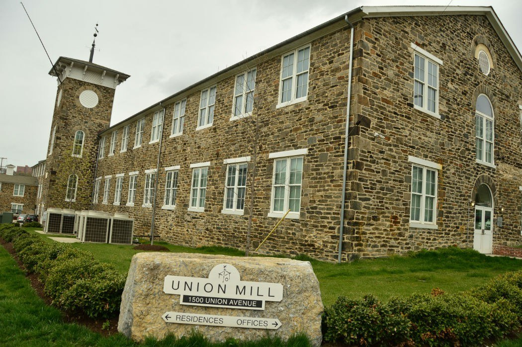 Exterior of Union Mill building in Baltimore Maryland