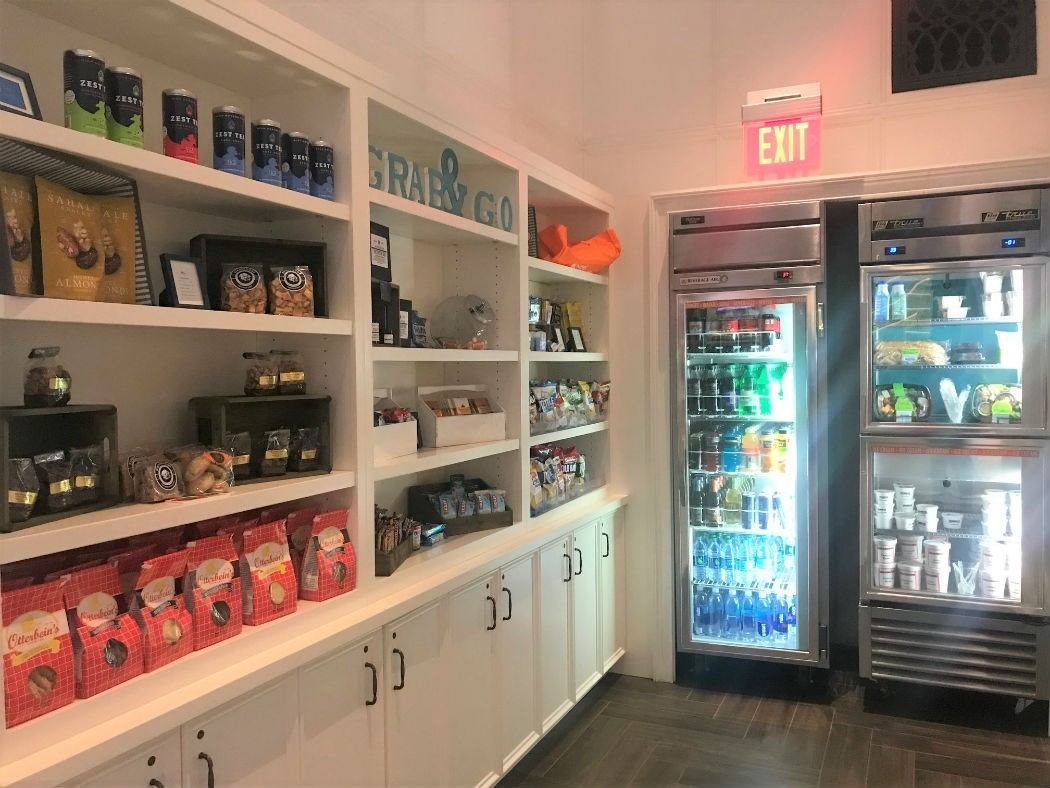 fridges and merchandising of food in Hotel Indigo Baltimore