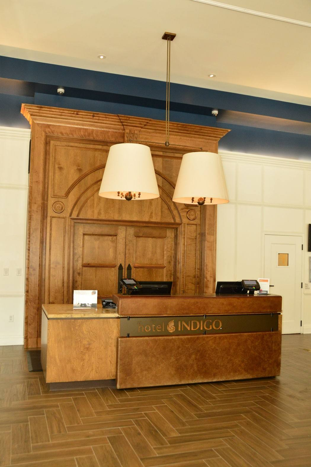 The check-in desk at Hotel Indigo Baltimore