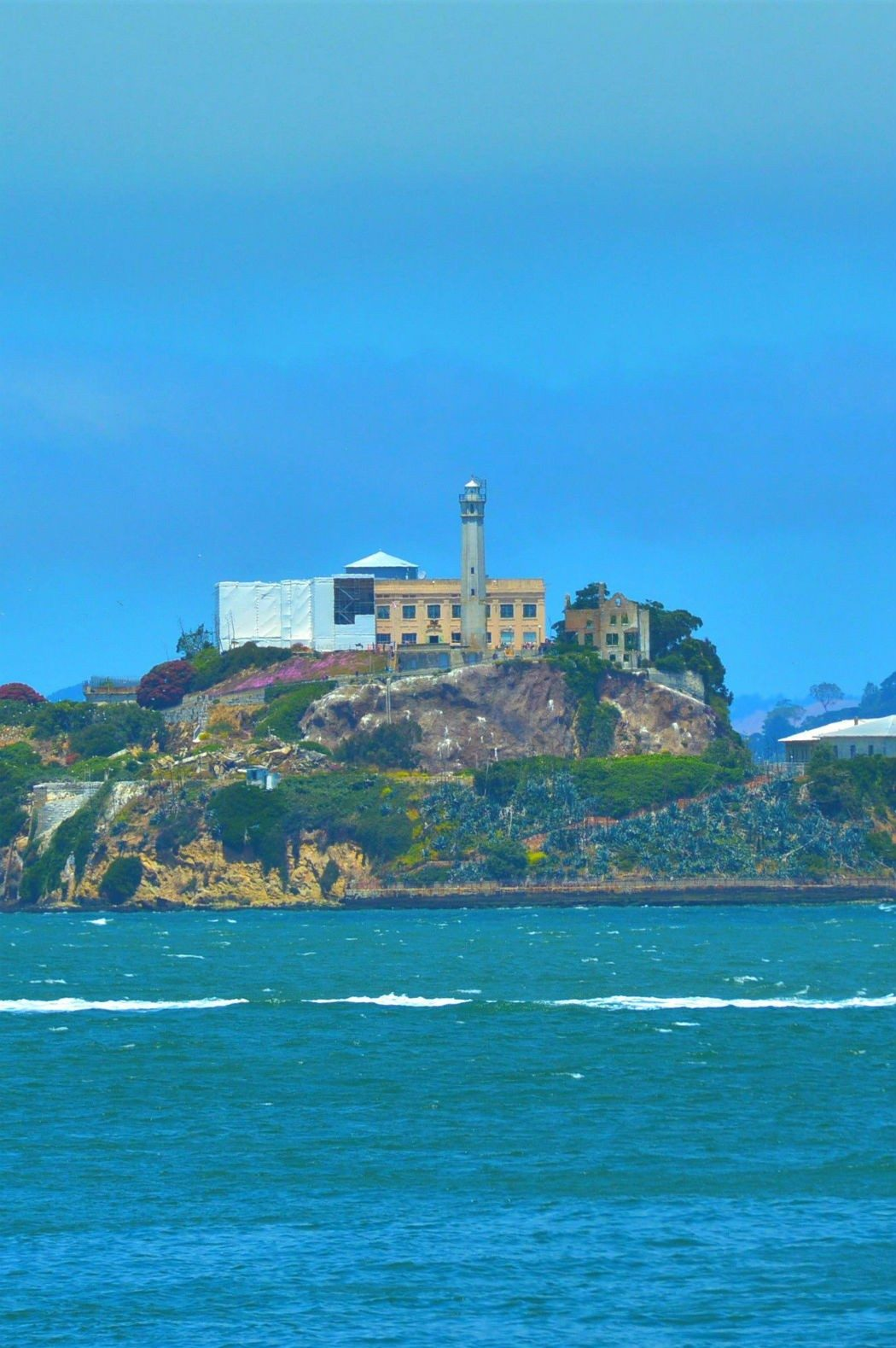 Alcatraz island seen from the ferry