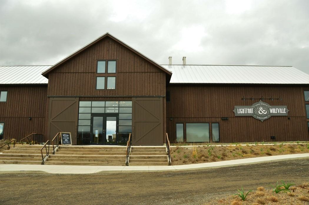 exterior of Lightfoot and Wolfville Winery