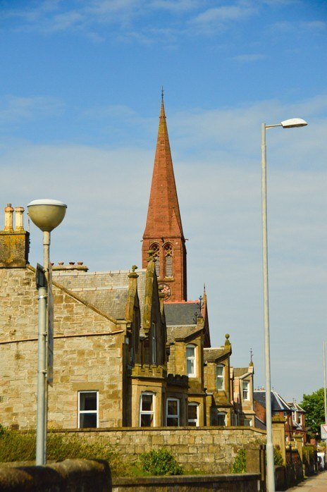 church steeple in troon ayrshire scotland