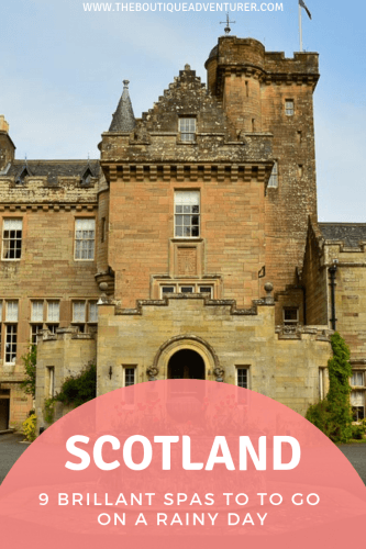 Scotland is not necessarily the first place that comes to mind when you think of spa breaks! However, there is a fantastic range of spa breaks Scotland to consider. The Scottish spa break tends to veer towards the indulgent/luxury end of the spa spectrum vs detox/extreme exercise. #scotland #scotlandroadtrip #scotlandvacations #luxuryspa