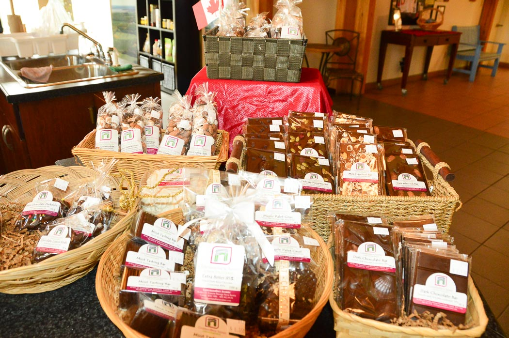 display of baked goods and chocolates at fox hill cheese farm