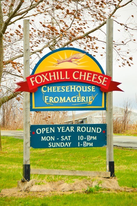 Foxhill Cheese Entrance Sign