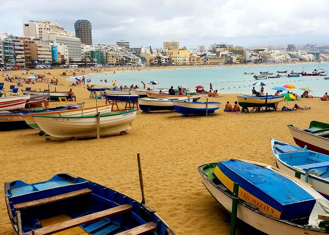 beach with boats on it Las Palmas Gran Canaria