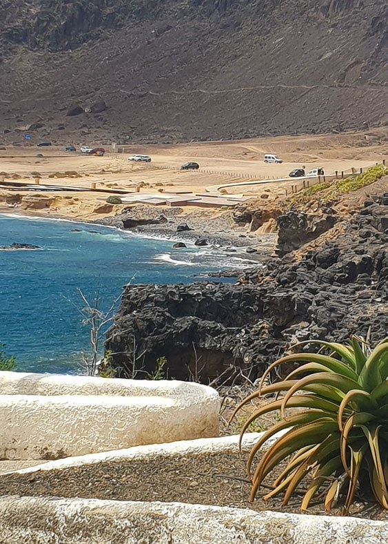 The beach in Las Palmas Gran Canaria