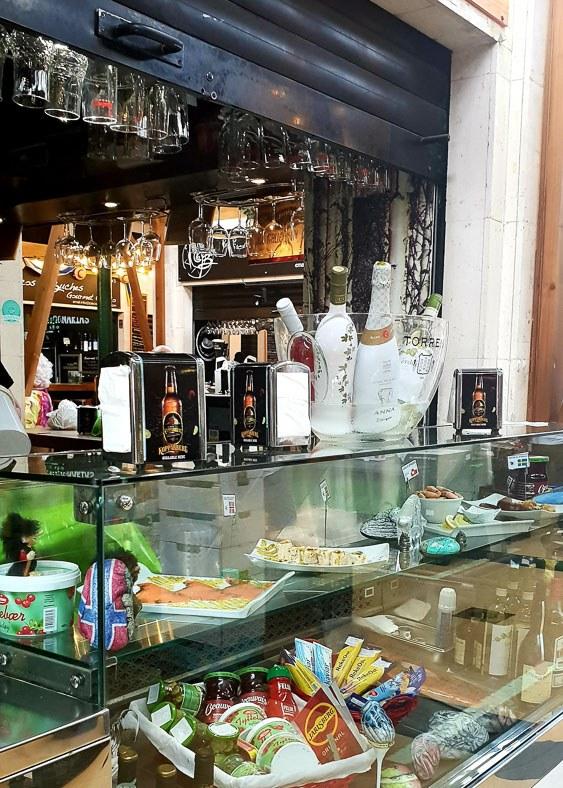 Bar at a market restaurant in Las Palmas Gran canaria