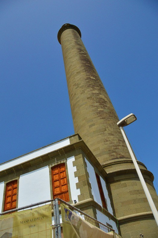 Maspalomas Lighthouse seen from the base