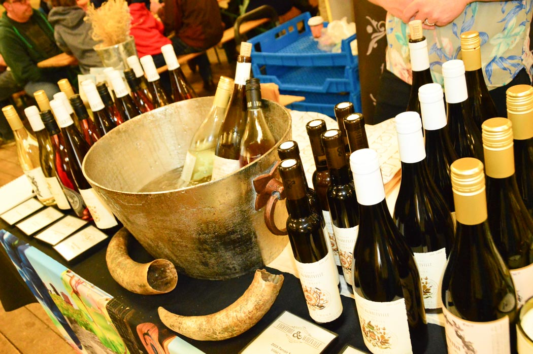 table with wine bottles ready for tasting