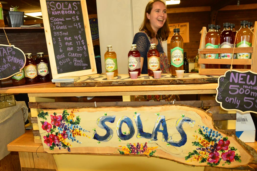 Solas soft drinks at Wolfville Farmers Market Nova Scotia