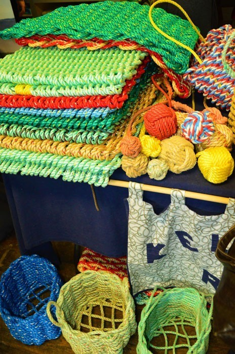 Colourful local art and craft on sale at the market