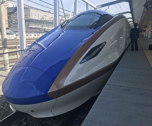 the front of a japanese bullet train