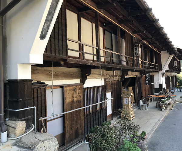 authentic japanese house in Tsumago Japan