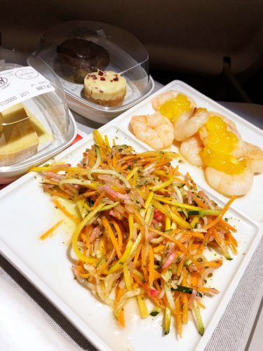 air france business class meals