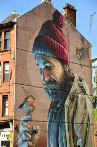 glasgow street art buildings