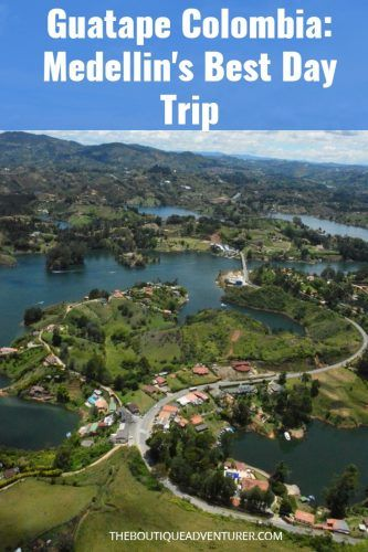 The incredibly colorful town of Guatape is 2 hours by bus from Medellin. Find out how to get there and what to see on Medellin's best day trip #guatape #colombia #medellindaytrip #guatapecolombia #guatapeantioquia#guatapefotos#guatapehouse#guatapemedellin #guatapetravel #guatapetrips #guatapelakes #medellincolombia #colombiatravel #colombiathingstodoin