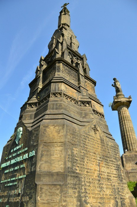Top of old glasgow building