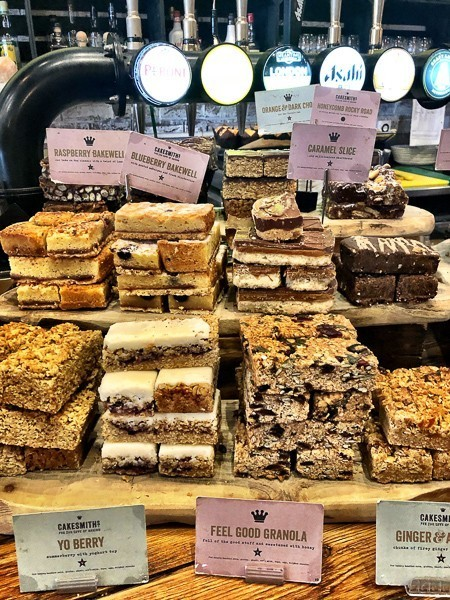 variety of cakes on display at Artigiano