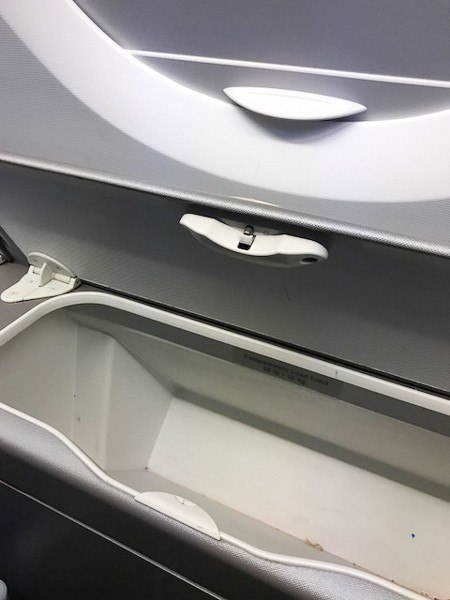 british airways premium economy storage locker for window seats