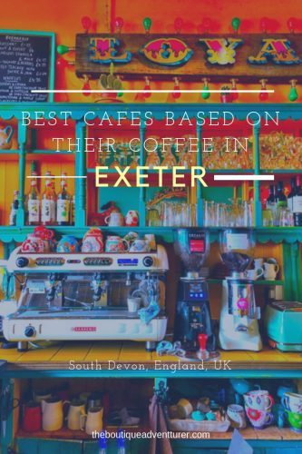 Exeter in South Devon has a fantastic food scene - check out my guide to the 6 Best Exeter Cafes based on the quality of their coffee #devon#england#devonengland#exeter#exeterdevon#exeterengland#exetercafes#exmouthbays#exeterthingstodoin#exetertravel#englandtravel#englandthingstodoin#devontravel#devonthingstodoin#devonsouth#devoncoast#devonplacestovisit#exeterrestaurants