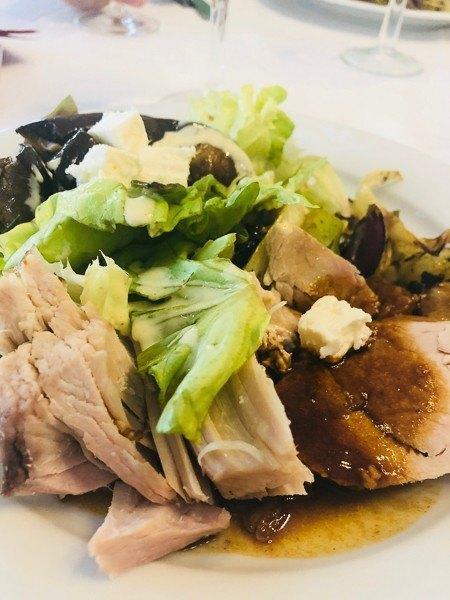 restaurant franz josef roast pork with greens and gravy