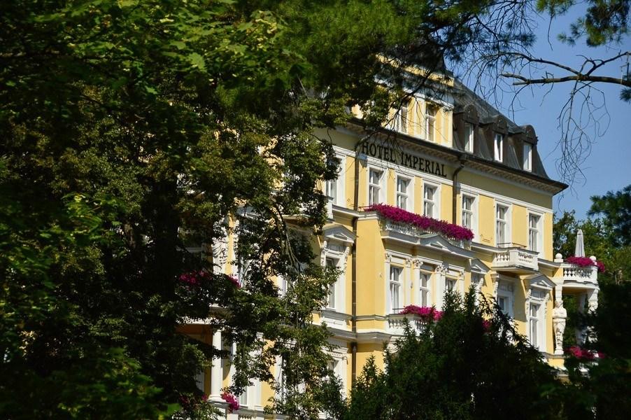 exterior of hotel imperial frantiskovy lazne czech republic