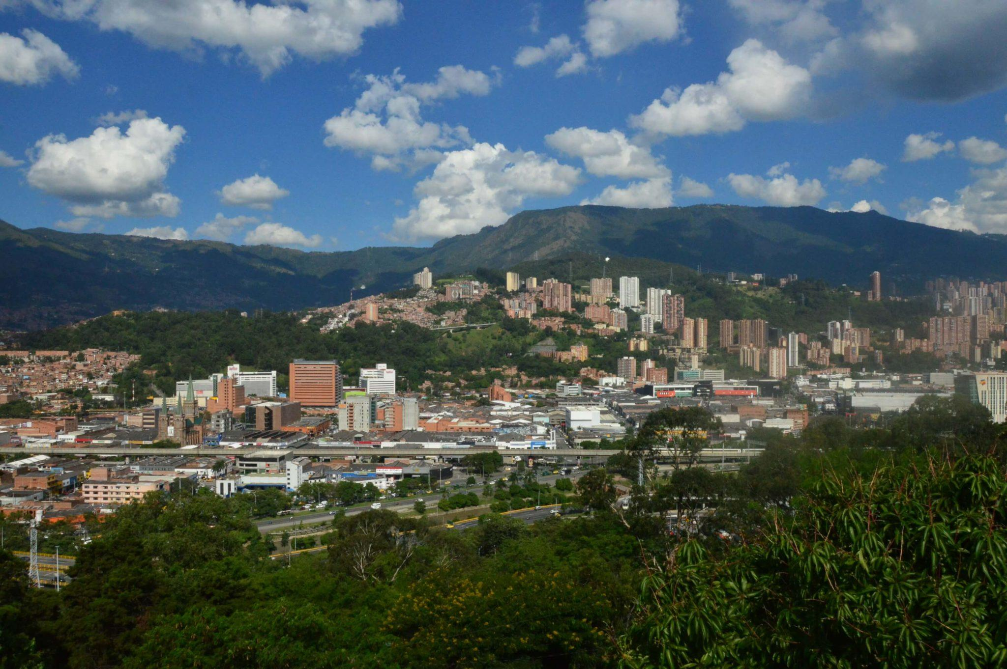 View over stunning Medellin Colombia
