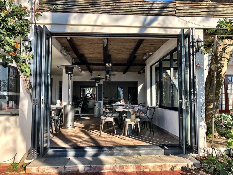 restaurant area at wedgeview boutique hotel stellenbosch