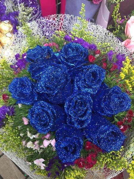 hong kong mongkok flower market blue roses