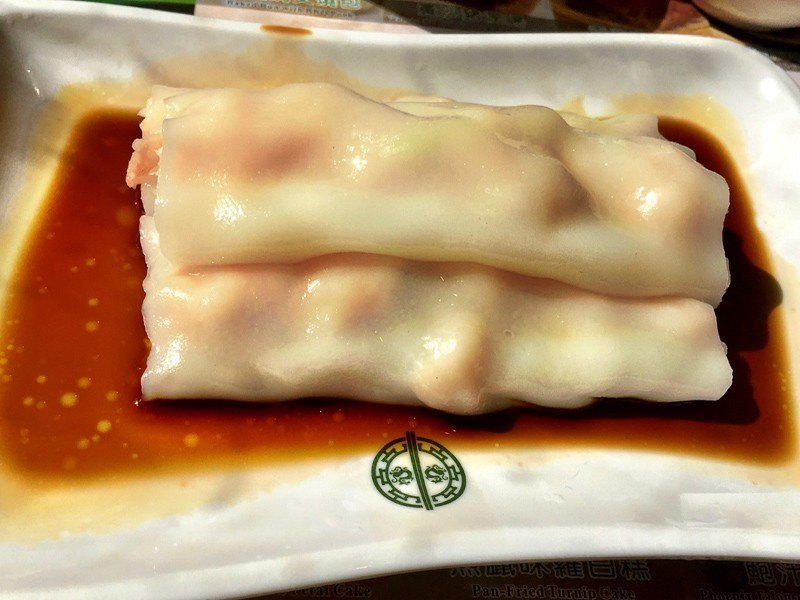 hong kong tim ho wan vermicelli rolls with soy sauce
