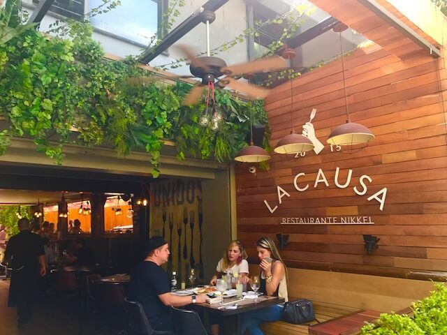 la-causa-medellin outdoor seating area