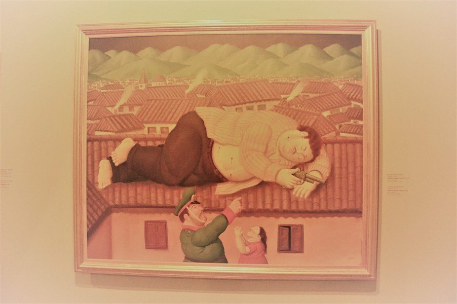 Botero painting of the capture of Pablo Escobar - Pablo Escobar Tour