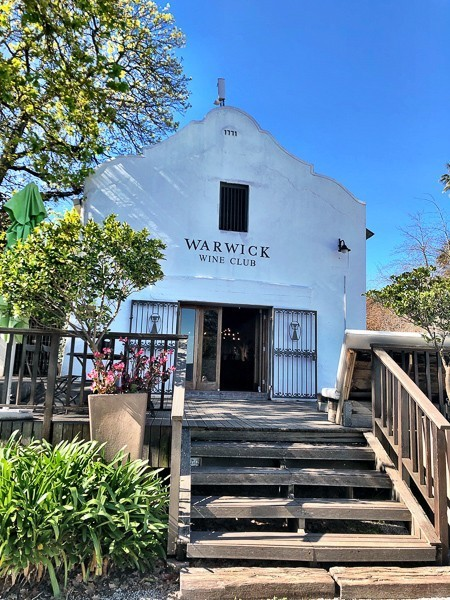 entrance to warwick winery