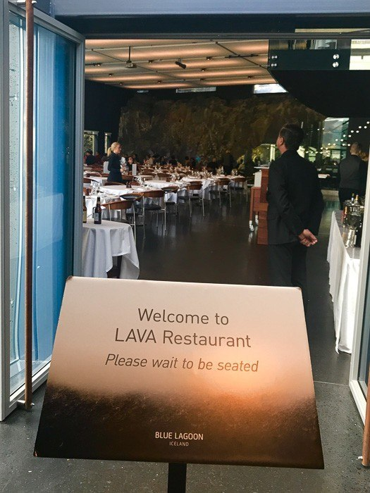 Entrance to Lava Restaurant at the Blue Lagoon