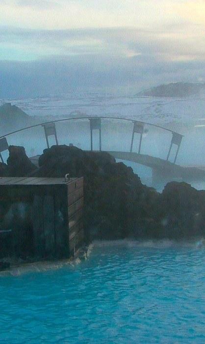 Bridge over the Blue Lagoon Iceland