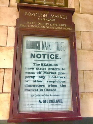 borough market tour