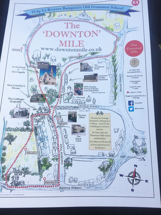 Map of the Downton Mile in the cotswolds