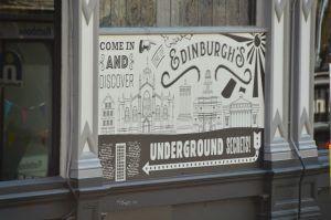 sign for underground edinburgh