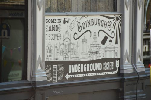 sign for underground edinburgh