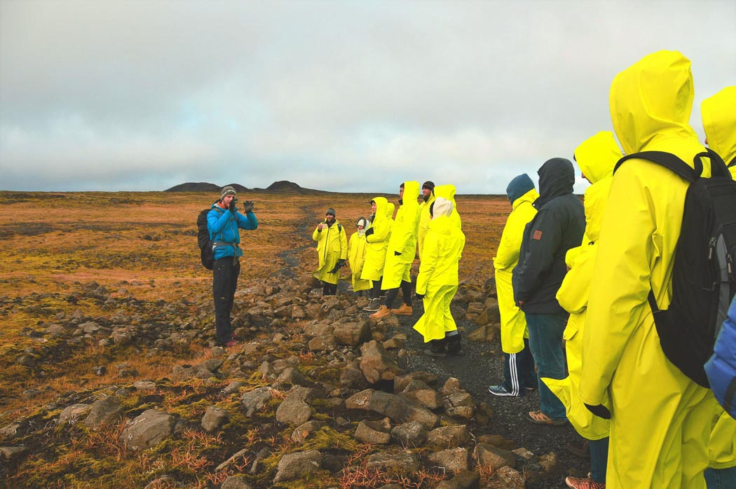 iceland inside volcano tour guide explaining things to group