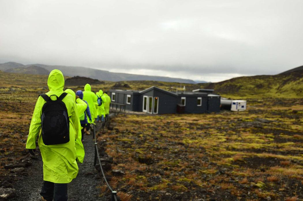 group heads to iceland volcano base camp